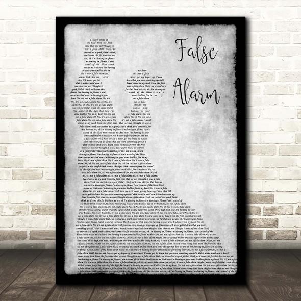 Matoma & Becky Hill False Alarm Grey Man Lady Dancing Song Lyric Print