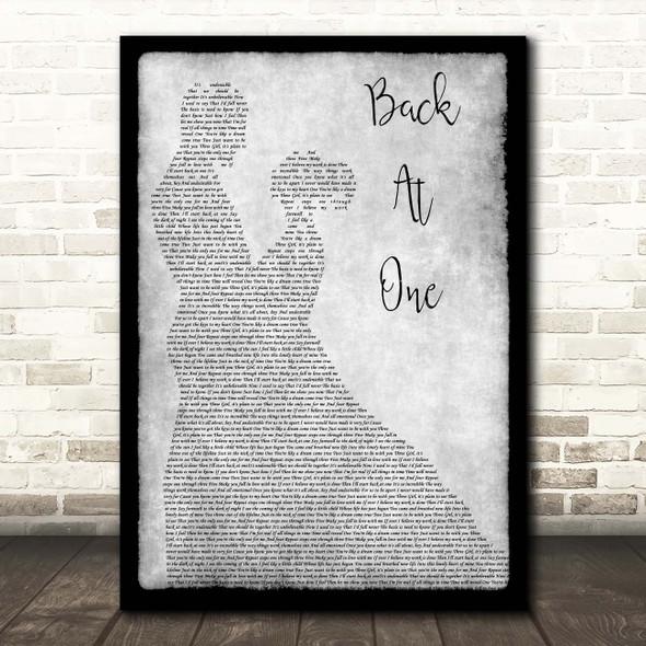 Brian McKnight Back At One Grey Man Lady Dancing Song Lyric Print