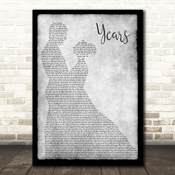 Alesso Years Grey Man Lady Dancing Song Lyric Print