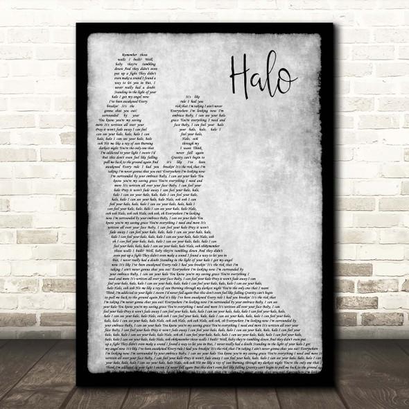 Beyonce Halo Grey Man Lady Dancing Song Lyric Print