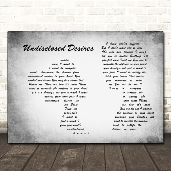 Muse Undisclosed Desires Man Lady Couple Grey Song Lyric Print