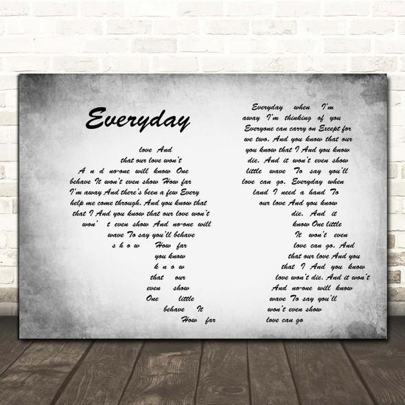 Slade Everyday Man Lady Couple Grey Song Lyric Print