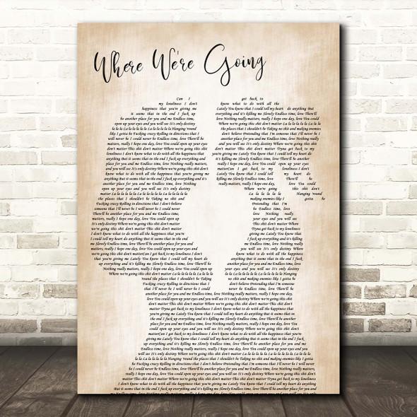 Gerry Cinnamon Where We're Going Lesbian Women Gay Brides Couple Wedding Song Lyric Print