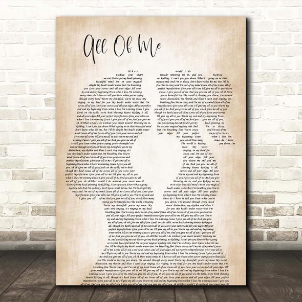 John Legend All Of Me Lesbian Women Gay Brides Couple Wedding Song Lyric Print