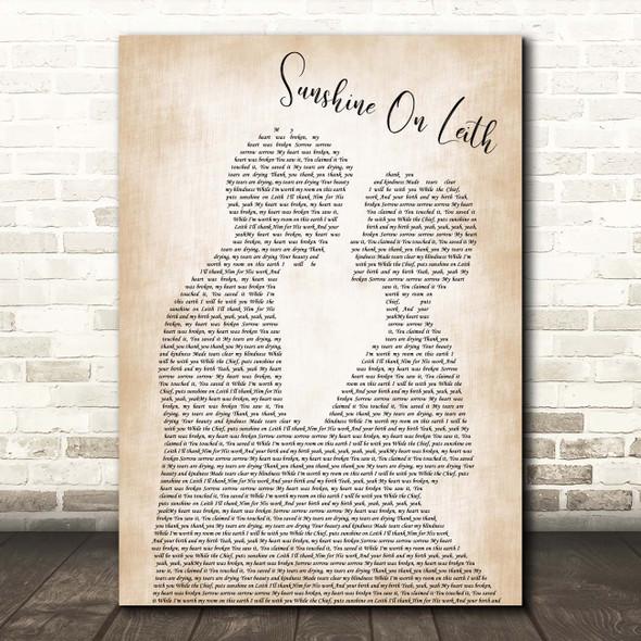 The Proclaimers Sunshine On Leith Man Lady Bride Groom Wedding Song Lyric Print