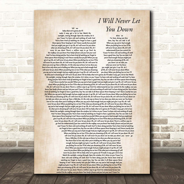 Rita Ora I Will Never Let You Down Mother & Baby Song Lyric Print