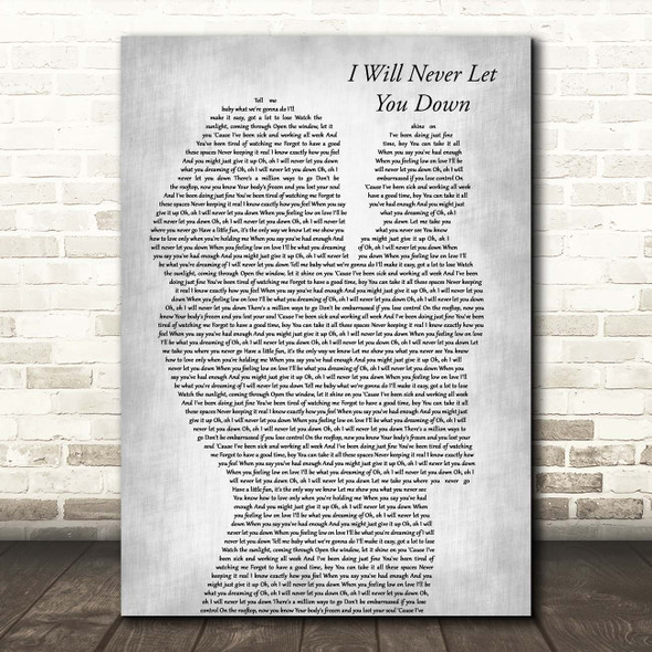 Rita Ora I Will Never Let You Down Mother & Baby Grey Song Lyric Print