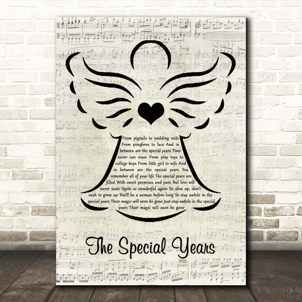 Val Doonican The Special Years Music Script Angel Song Lyric Print