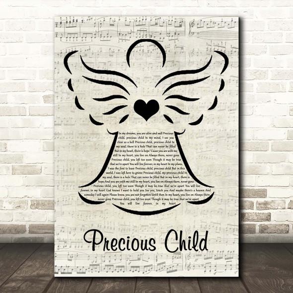 Karen Taylor Good Precious Child Music Script Angel Song Lyric Print