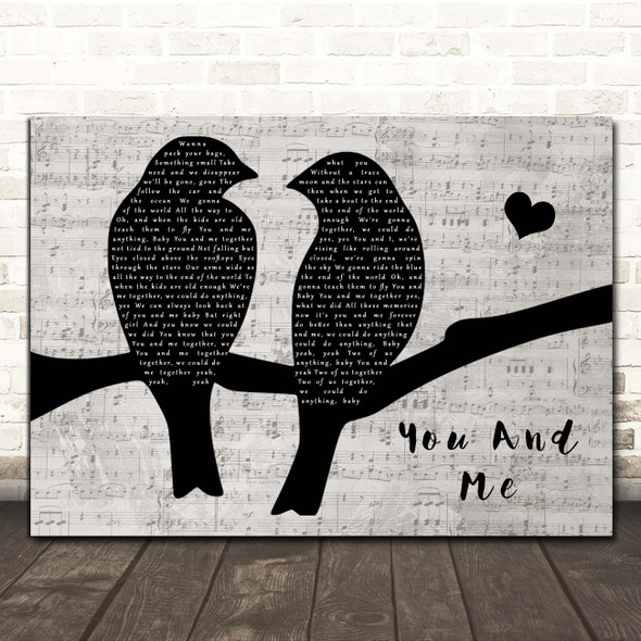 Dave Matthews Band You And Me Lovebirds Music Script Song Lyric Print