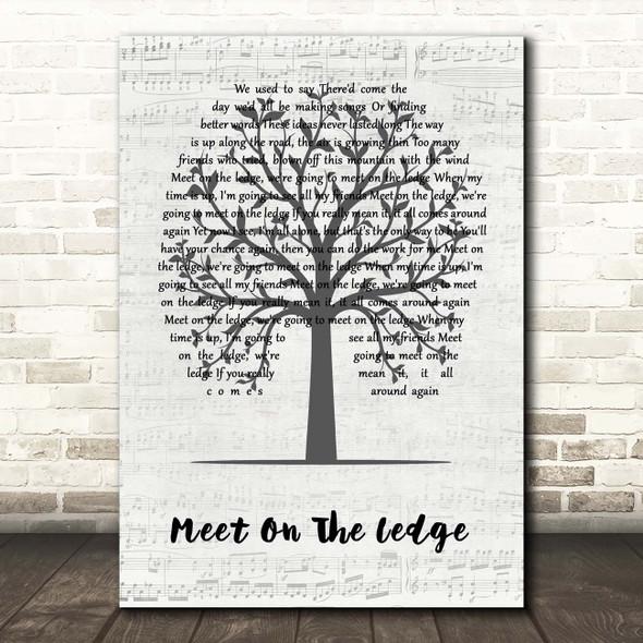Fairport Convention Meet On The Ledge Music Script Tree Song Lyric Print
