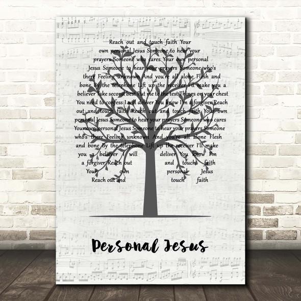 Depeche Mode Personal Jesus Music Script Tree Song Lyric Print