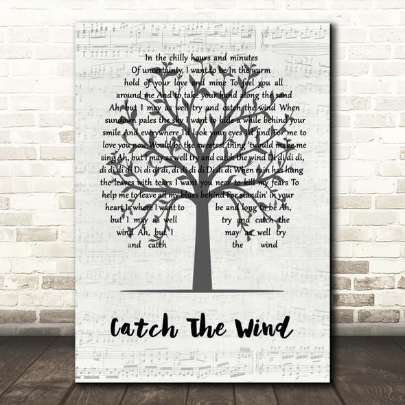 Donovan Catch The Wind Music Script Tree Song Lyric Print