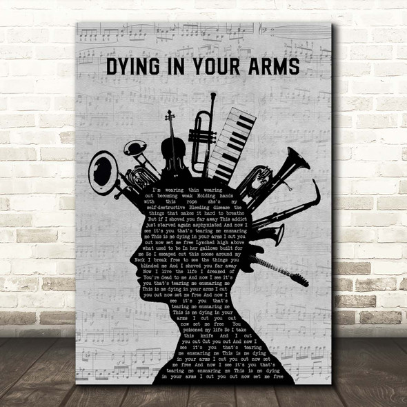 Trivium Dying In Your Arms Musical Instrument Mohawk Song Lyric Print