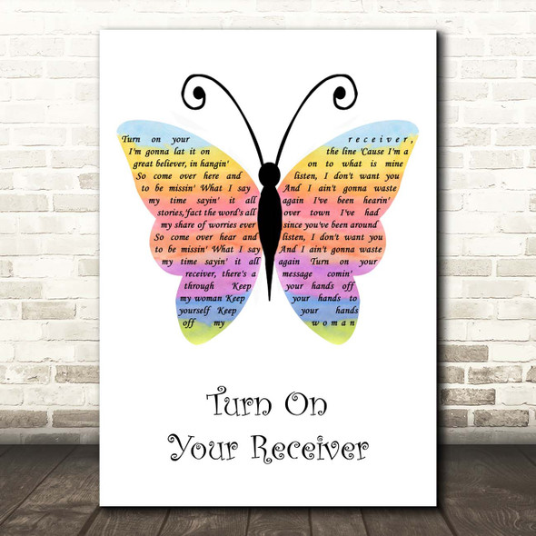 Nazareth Turn On Your Receiver Rainbow Butterfly Song Lyric Print