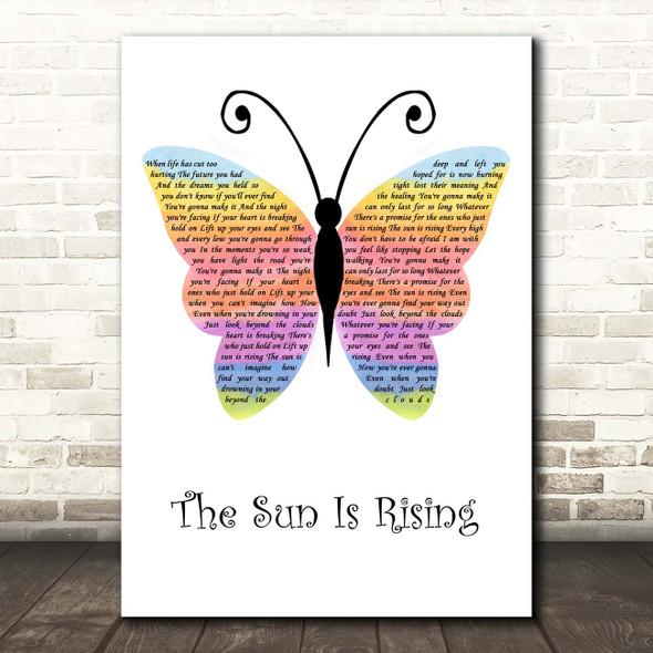 Britt Nicole The Sun Is Rising Rainbow Butterfly Song Lyric Print