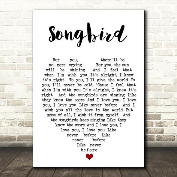 Songbird Fleetwood Mac Quote Song Lyric Heart Print