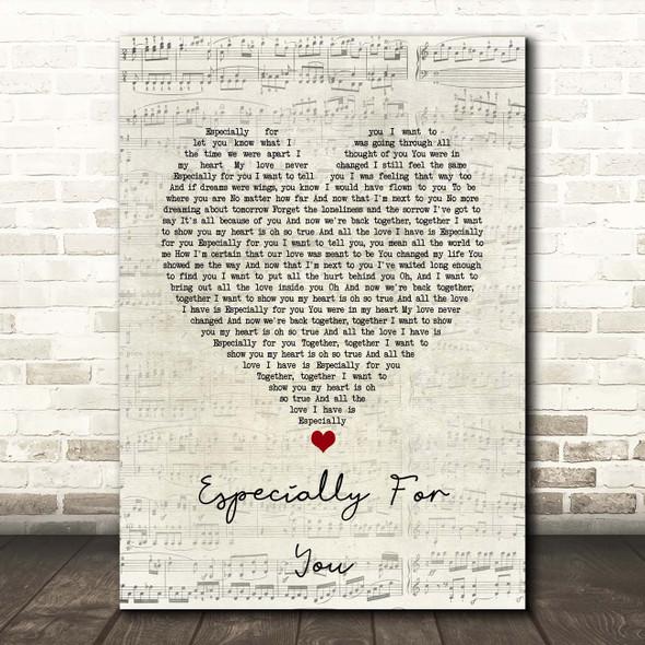 Kylie Minogue, Jason Donovan Especially for You Script Heart Song Lyric Print
