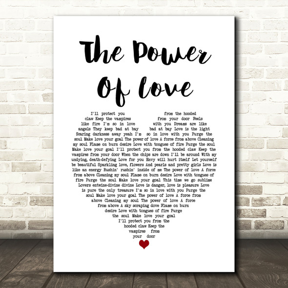 Frankie Goes To Hollywood The Power Of Love Heart Song Lyric Quote Print