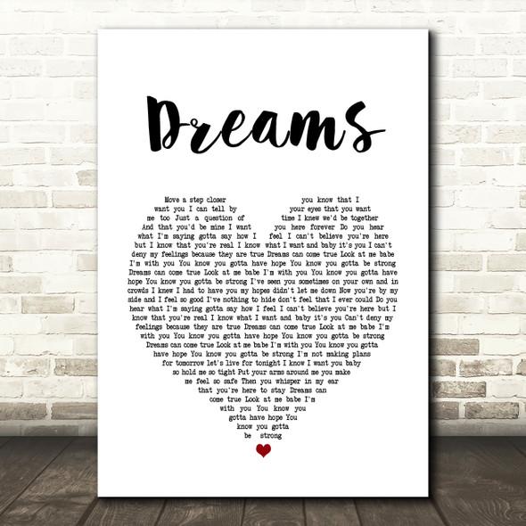 Gabrielle Dreams Heart Song Lyric Quote Print