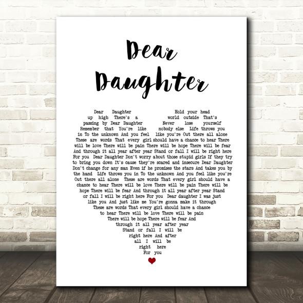 Halestorm Dear Daughter Heart Song Lyric Quote Print