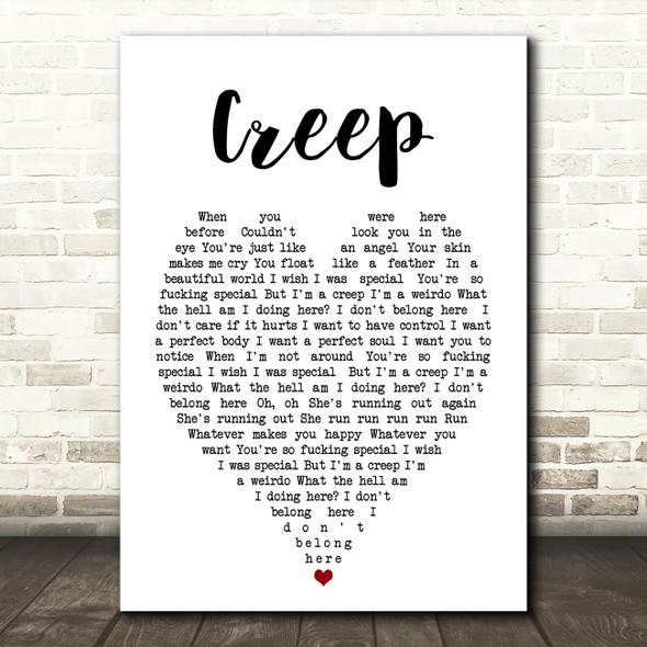 Creep Radiohead Heart Quote Song Lyric Print