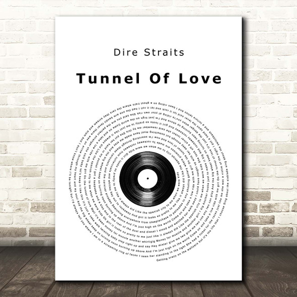 Dire Straits Tunnel Of Love Vinyl Record Song Lyric Print