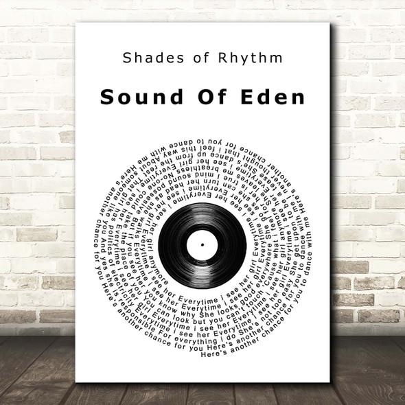 Shades of Rhythm Sound Of Eden Vinyl Record Song Lyric Print