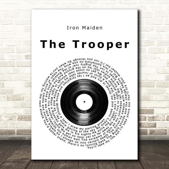 Iron Maiden The Trooper Vinyl Record Song Lyric Print