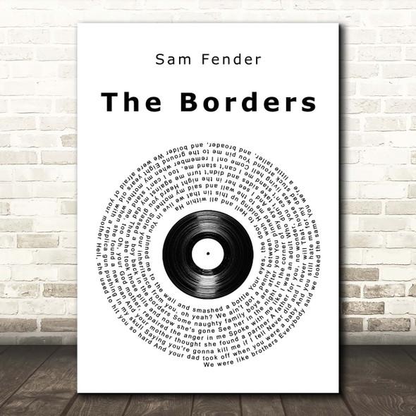Sam Fender The Borders Vinyl Record Song Lyric Print