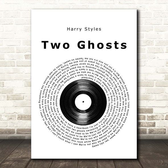 Harry Styles Two Ghosts Vinyl Record Song Lyric Print