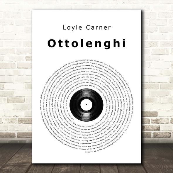Loyle Carner Ottolenghi Vinyl Record Song Lyric Print