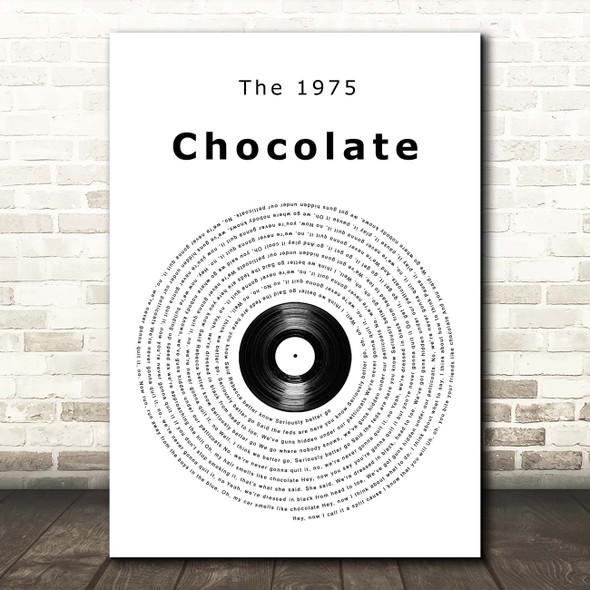 The 1975 Chocolate Vinyl Record Song Lyric Print