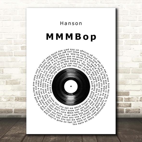 Hanson MMMBop Vinyl Record Song Lyric Print