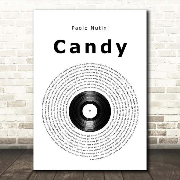 Paolo Nutini Candy Vinyl Record Song Lyric Print