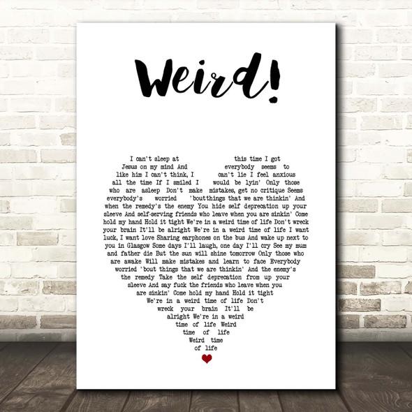 YUNGBLUD Weird! White Heart Song Lyric Print