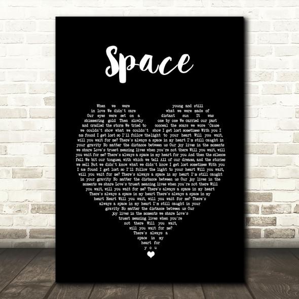Biffy Clyro Space Black Heart Song Lyric Music Art Print