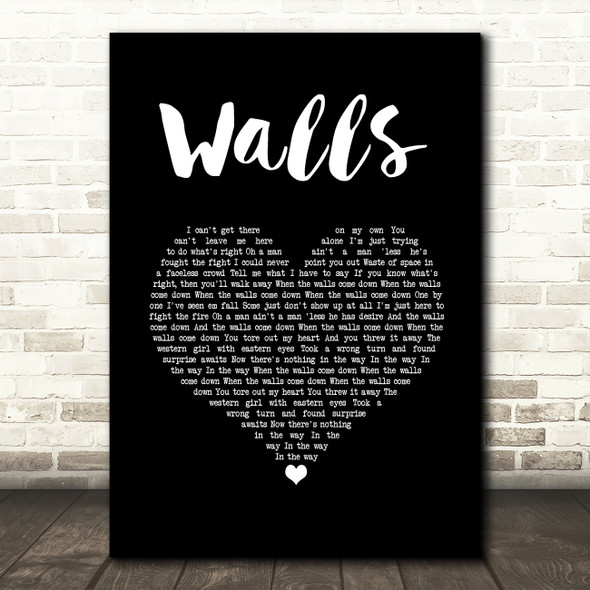 Kings Of Leon Walls Black Heart Song Lyric Music Art Print