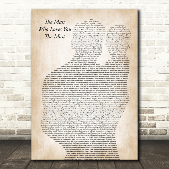 Zac Brown Band The Man Who Loves You The Most Father & Baby Song Lyric Music Art Print