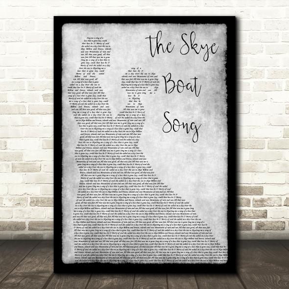 Bear McCReary The Skye Boat Song Grey Man Lady Dancing Song Lyric Music Art Print