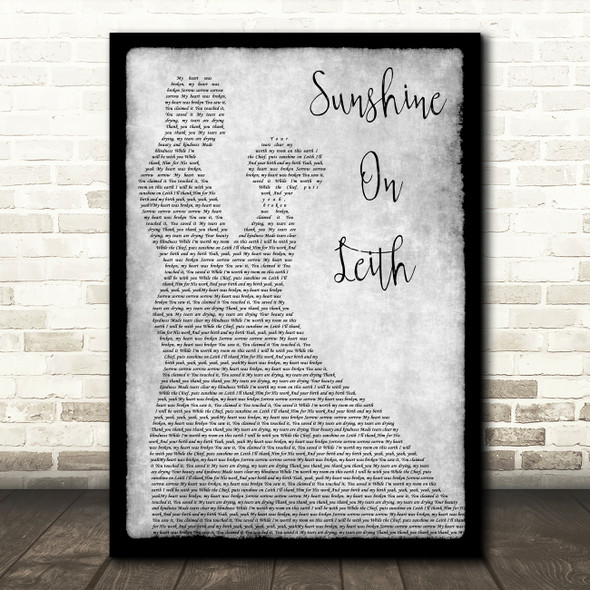 The Proclaimers Sunshine On Leith Grey Man Lady Dancing Song Lyric Music Art Print