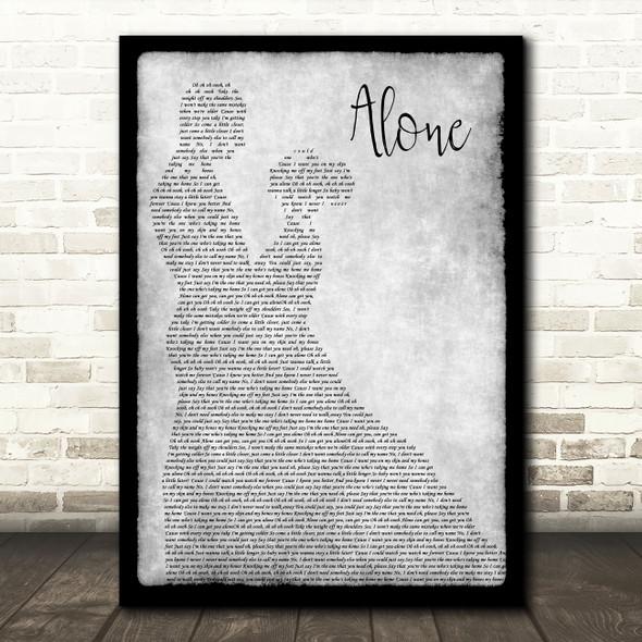 Jessie Ware Alone Grey Man Lady Dancing Song Lyric Music Art Print
