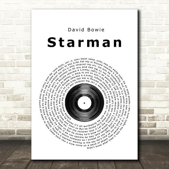 David Bowie Starman Vinyl Record Song Lyric Quote Print