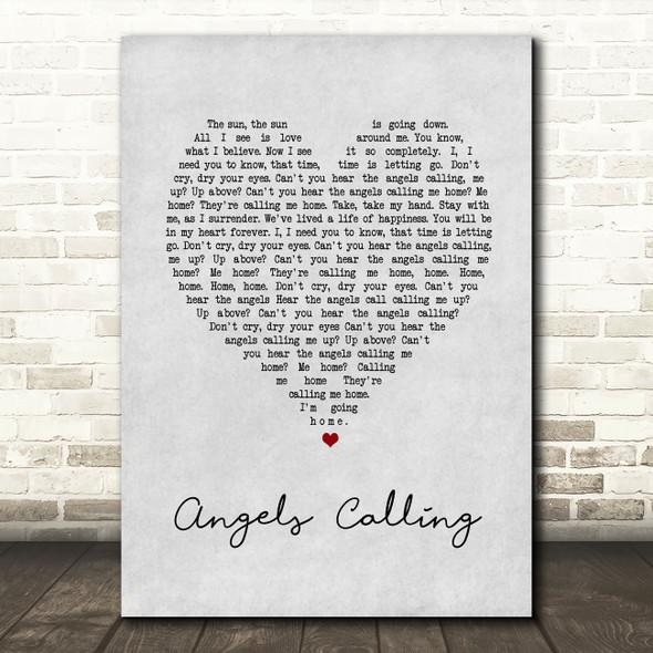 The Tenors Angels Calling Grey Heart Song Lyric Music Art Print