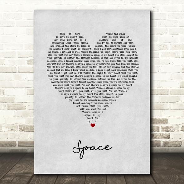Biffy Clyro Space Grey Heart Song Lyric Music Art Print
