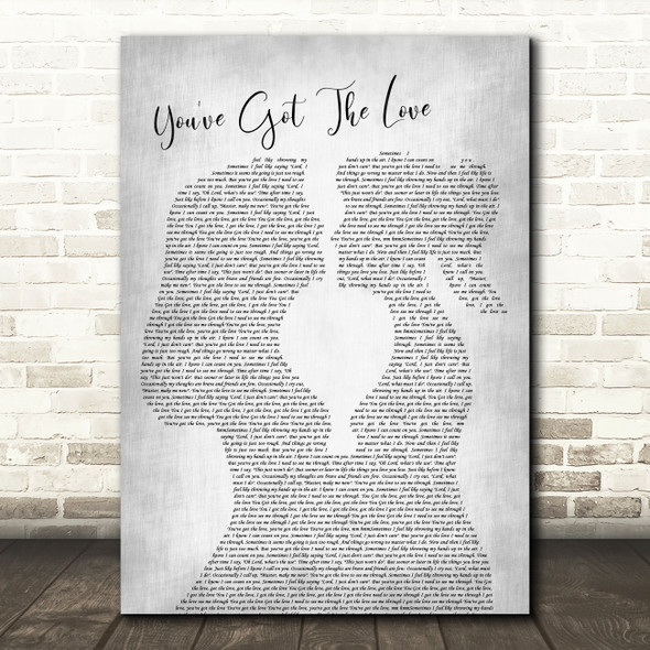 Candi Staton You've Got The Love Lesbian Women Gay Brides Couple Wedding Grey Song Lyric Music Art Print