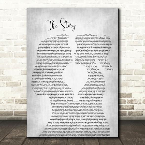 Brandi Carlile The Story Lesbian Women Gay Brides Couple Wedding Grey Song Lyric Music Art Print