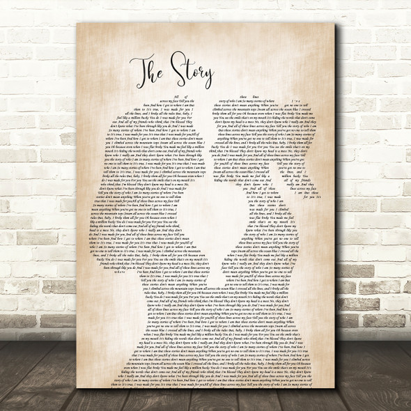 Brandi Carlile The Story Lesbian Women Gay Brides Couple Wedding Song Lyric Music Art Print