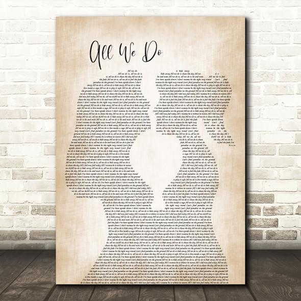 Oh Wonder All We Do Lesbian Women Gay Brides Couple Wedding Song Lyric Music Art Print