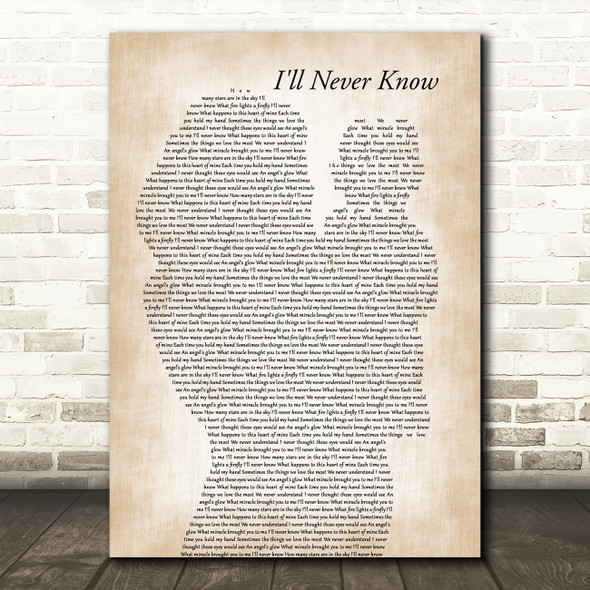 Elvis Presley I'll Never Know Mother & Baby Song Lyric Music Art Print